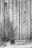 Μακρύ αντιμετωπισμένο φτυάρι εστιών Στοκ Φωτογραφία