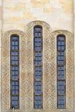 Μακρύ γοτθικό παράθυρο ενός καθεδρικού ναού Στοκ φωτογραφία με δικαίωμα ελεύθερης χρήσης