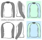 Μακρύ μανίκι ρεγκλάν μπλουζών ατόμων διανυσματική απεικόνιση