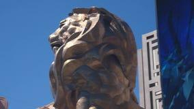 Μακρύ τηγάνι του μεγάλου λιονταριού MGM απόθεμα βίντεο