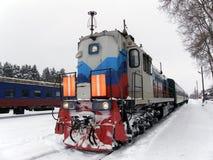 μακρύ τραίνο Στοκ Φωτογραφία