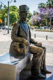 ΜΑΛΑΓΑ, ANDALUCIA/SPAIN - 25 ΜΑΐΟΥ: Άγαλμα του δανικού συγγραφέα Hans στοκ φωτογραφία με δικαίωμα ελεύθερης χρήσης