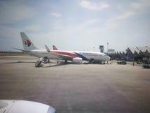 Μαλαισιανές αερογραμμές πτήσης Στοκ φωτογραφία με δικαίωμα ελεύθερης χρήσης