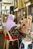 Μαλαισιανές τέχνες στην κεντρική αγορά Κουάλα Λουμπούρ Στοκ εικόνα με δικαίωμα ελεύθερης χρήσης