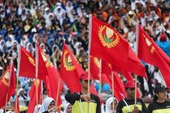 Μαλαισιανοί σπουδαστές που γιορτάζουν τη Hari Merdeka στη Μαλαισία, Κουάλα Λουμπούρ στοκ φωτογραφίες