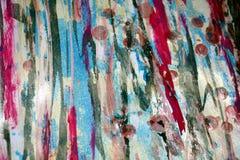 Μαλακά κόκκινα μπλε χρώματα κεριών, δημιουργικό υπόβαθρο αντιθέσεων Στοκ Εικόνες