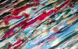 Μαλακά κόκκινα σκούρο μπλε ρόδινα, ζωηρά χρώματα κεριών, δημιουργικό υπόβαθρο αντιθέσεων Στοκ Εικόνες