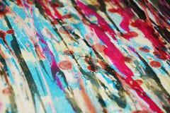 Μαλακά κόκκινα σκούρο μπλε χρώματα κεριών, δημιουργικό υπόβαθρο αντιθέσεων Στοκ Εικόνα