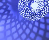 Μαλακά σχέδια σκιών από μια σύγχρονη συναρμολόγηση λαμπτήρων Στοκ φωτογραφίες με δικαίωμα ελεύθερης χρήσης