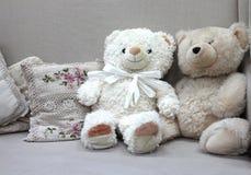 Μαλακές αρκούδες παιχνιδιών για χαριτωμένο αστείο παιδιών στοκ εικόνες