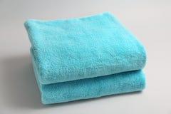 Μαλακές πετσέτες λουτρών Στοκ Φωτογραφίες