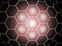 Μαλακή καμμένος σφαίρα των εξαγωνικών κυττάρων απεικόνιση αποθεμάτων