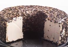 Μαλακό τυρί με το μαύρο πιπέρι στοκ φωτογραφίες
