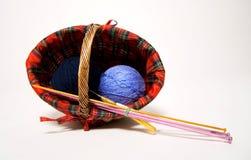 μαλλί καλαθιών Στοκ φωτογραφίες με δικαίωμα ελεύθερης χρήσης