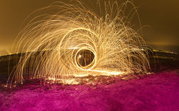μαλλί καλωδίων πυροτεχν&e Στοκ εικόνες με δικαίωμα ελεύθερης χρήσης