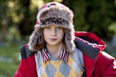 μαλλί καπέλων αγοριών Στοκ φωτογραφία με δικαίωμα ελεύθερης χρήσης