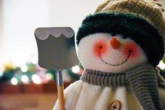 Μαλλιαρός χιονάνθρωπος, διακόσμηση Χριστουγέννων Στοκ Εικόνες