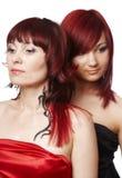 μαλλιαρό κόκκινο ζευγών στοκ φωτογραφίες
