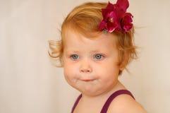 μαλλιαρό κόκκινο κοριτσ&i Στοκ Εικόνες