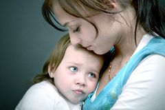 μαμά παιδιών Στοκ φωτογραφία με δικαίωμα ελεύθερης χρήσης