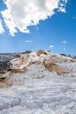Μαμμούθ καυτό Spings στο εθνικό πάρκο Yellowstone, Ουαϊόμινγκ, ΗΠΑ Στοκ φωτογραφία με δικαίωμα ελεύθερης χρήσης