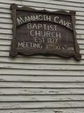 Μαμμούθ σημάδι εκκλησιών σπηλιών Στοκ Εικόνα