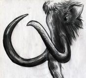 Μαμμούθ σκίτσο Στοκ εικόνα με δικαίωμα ελεύθερης χρήσης