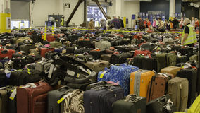 Μανία αποσκευών στοκ φωτογραφίες με δικαίωμα ελεύθερης χρήσης