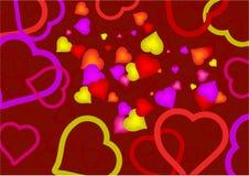 Μανία καρδιών στοκ εικόνα με δικαίωμα ελεύθερης χρήσης