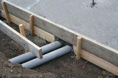 Μανίκια αγωγών PVC Στοκ φωτογραφία με δικαίωμα ελεύθερης χρήσης