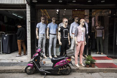 Μανεκέν shopfront Στοκ Εικόνα