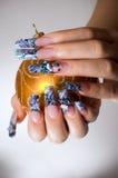 μανικιούρ χεριών δάχτυλων Στοκ φωτογραφία με δικαίωμα ελεύθερης χρήσης