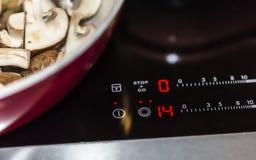 Μανιτάρι σε μια ηλεκτρική σόμπα Στοκ φωτογραφίες με δικαίωμα ελεύθερης χρήσης