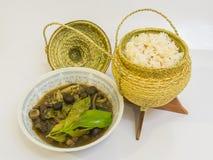 Μανιτάρι σούπας με το κολλώδες ρύζι Στοκ Φωτογραφίες