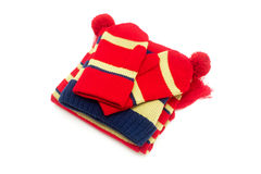 Μαντίλι, καπέλο και γάντια στοκ εικόνα
