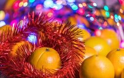 Μανταρίνια στο χρόνο Χριστουγέννων Στοκ εικόνα με δικαίωμα ελεύθερης χρήσης