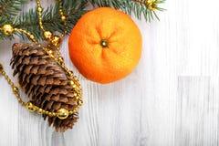 Μανταρίνι Χριστουγέννων Στοκ Φωτογραφίες