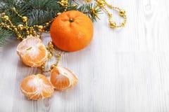 Μανταρίνι Χριστουγέννων Στοκ Εικόνες