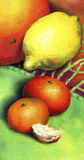 Μανταρίνι δύο, λεμόνι και γκρέιπφρουτ απεικόνιση αποθεμάτων