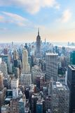 Μανχάταν - άποψη από την κορυφή του βράχου - κέντρο Rockefeller - Νέα Υόρκη στοκ φωτογραφίες με δικαίωμα ελεύθερης χρήσης