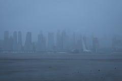 Μανχάταν κατά τη διάρκεια της θύελλας χιονιού Στοκ Φωτογραφίες