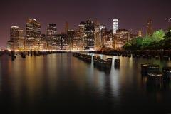 Μανχάτταν πόλη Νέα Υόρκη η Αμερική δηλώνει ενωμένο Στοκ Φωτογραφία