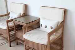 μαξιλάρια εδρών μπαμπού βραχιόνων Στοκ Φωτογραφία