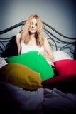 μαξιλάρια κοριτσιών Στοκ Φωτογραφίες