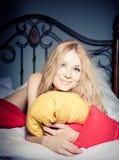 μαξιλάρια κοριτσιών Στοκ Εικόνα
