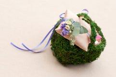 Μαξιλάρι για τα γαμήλια δαχτυλίδια Στοκ φωτογραφίες με δικαίωμα ελεύθερης χρήσης