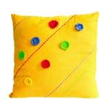 μαξιλάρι κίτρινο Στοκ Εικόνες
