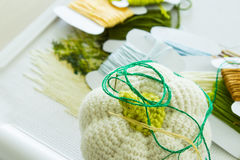 Μαξιλάρι με τις βελόνες για την κεντητική Στοκ φωτογραφία με δικαίωμα ελεύθερης χρήσης