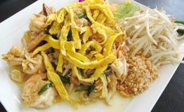 Μαξιλάρι Ταϊλανδός & γαρίδες Στοκ Εικόνες