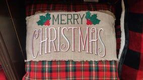 Μαξιλάρι Χαρούμενα Χριστούγεννας Στοκ Εικόνες